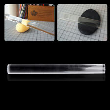 Transparent Acrylic Solid Roll Clay Rolling Pin Fondant Baking Pastry Roller