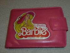 VINTAGE PINK & PRETTY BARBIE WALLET MATTEL 1982 GIRL VINYL BIFOLD