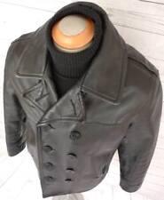 ✰ SCHOTT US 740N Leather Naval Pea Coat Vintage JACKET PERFECTO PEACOAT USA 40