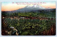 Postcard OR Upper & Lower Tracks Cantara Loop Near Mt. Shasta Vtg View F2