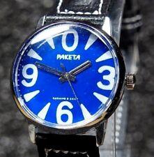 "USSR mechanical watch Raketa ""Big Zero"" 34mm  Blue 2609 16 jewels"