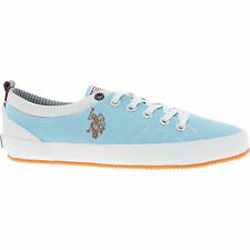 US POLO ASSN Women's Sky Blue Canvas Trainers/Sneakers RRP £100 s UK 5 / EU 38