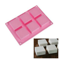 6 Square Cavity Silicone Rectangle DIY Soap Jelly Ice Cake Chocolate Mold