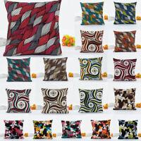 Cotton Linen Geometric Patterns Pillow Case Sofa Waist Cushion Cover Home Decor