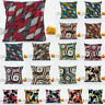 Geometric Patterns Cotton Linen Pillow Case Sofa Waist Cushion Cover Home Decor