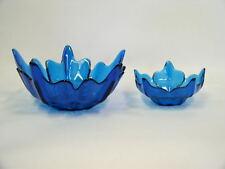 Beautiful Large & Small Viking Cobalt Blue Flower Petal Dishes
