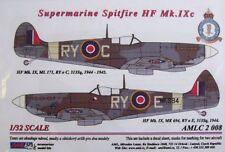 AML DECALS 1/32 Spitfire HF Mk. IXc RY-C, Ry-E avec peinture masques # C2008