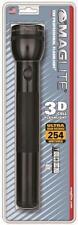 NEW MAGLITE S3D016 BLACK 3 D CELL FLASHLIGHT MAG-LITE USA MADE 6202790