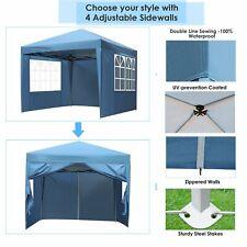 10X10' -Tent-Canopy-Party-Weddin g-Outdoor-Patio-Gazebo-Rem ovable-Wall-Blue