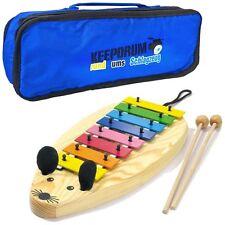 Sonor MG Kinder Xylophon Maus Glockenspiel + KD  Bag Tasche
