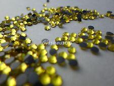 1000 Hotfix Strasssteine, *Citrine/Gelb*, SS16~3,8-4mm, Super Qualität