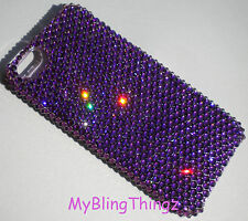 AMETHYST Purple Crystal Back Case for iPhone 5 5S made with Swarovski Elements