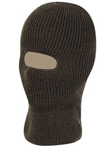 SAS OPEN FACE BALACLAVA army black 100% winter thermal breathable mens one size