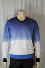 Fenchurch Mens Navy Dip Dye V Neck Jumper Size Medium (F3)