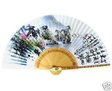 Fächer Handfächer Papier Bambus Wand Dekor Japan Neu