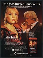 KATIE'S PASSION__Orig 1988 Trade AD movie promo__RUTGER HAUER_Monique van de Ven