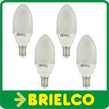 LAMPARA BOMBILLA BAJO CONSUMO FLUORESCENTE 6400ºK VELA E14 11W 220V 4UDS BD4062