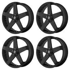 KMC KM775 ROCKSTAR CAR KM77577546742 RIMS SET OF 4 17X7.5 42MM 5X112 MATTE-BLACK