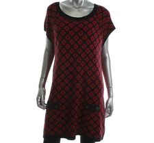 NWT Style&co. Women's Black Red Tunic Sweater Size: XL