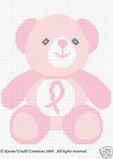 BREAST CANCER AWARENESS BEAR Crochet Afghan Pattern