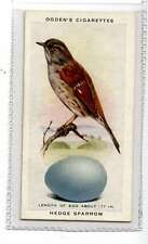 (Jk349-100) Ogdens,British Birds & Their Eggs,Hedge Sparrow,1939 #37