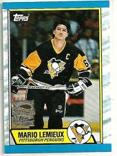 Mario Lemieux 2000-01 Topps Pittsburg Penguins 1989-90 Reprint Hockey Card