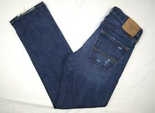 Mens Abercrombie & Fitch Jeans Size 28x30 Slim Straight Button Fly Distressed