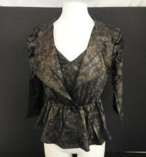 NWT Pretty Angel Womens Bolero Jacket Matching Camisole Set Coffee Black L W9