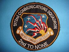 """VIETNAM WAR PATCH, USAF 172nd COMMUNICATIONS SQ """" SECOND TO NONE """""""