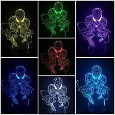 SPIDERMAN - LED Desk 3D Light USB Touch Illusion 7 Color Change Night Lamps