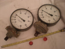 "pressure / vacuum Vintage BUDENBERG gauge.6"" dia.For Steam Traction engine,ETC"