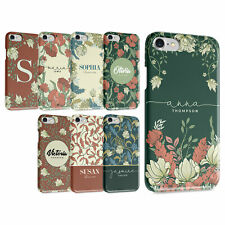 PERSONALISED FLORAL TULIPS GARDEN ROSES INITIAL IPHONE & SAMSUNG HARD PHONE CASE
