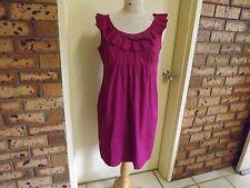 Jacqui E Frilled Knee Length Dress sz 12
