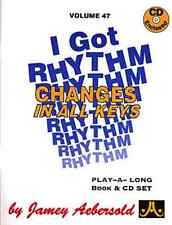 "Aebersold-""I Got Rhythm"" Jazz Play-A-Long Vol.47 Music Book/Cd Brand New On Sale"