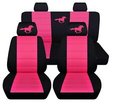 Car Seat Covers 2011-2014 Ford Mustang Coupe Running Horse Design 23 Colors ABF