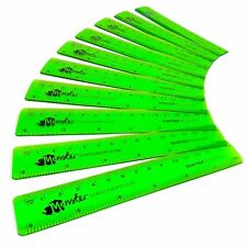 Monster Stationery - Transparent Rulers 6 Inch / 15cm - Class Pack of 50 - Green