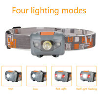 500LM R3 +2 LED Flashlight Headlamp Ultra Mini Headlight for Outdoor Activities