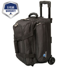 Ebonite Transport II Black 2 Ball Roller Bowling Bag