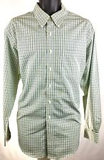 BROOKS BROTHERS 1818 Mens Size L Button Down Dress Shirt Non Iron Green Plaid