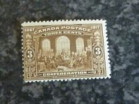 CANADA POSTAGE STAMP SG244/5 3C BROWN LIGHTLY MOUNTED MINT
