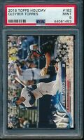 2018 Topps Holiday Gleyber Torres RC Card #182 #HMW182 PSA 9 Mint Rookie