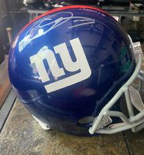 Odell Beckham Jr Full Size Autograph Replica Helmet New York Giants Leaf Auto