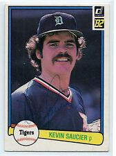 Kevin Saucier signed 1982 Donruss baseball Detroit Tigers autograph