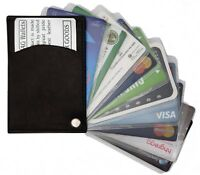 Slim Thin Mens Leather Swing Out Credit Card Holder Front Pocket Wallet
