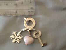 100% Authentic Thomas Sabo Silver Charms  Pendant Key,Snowflake and Pink Heart.