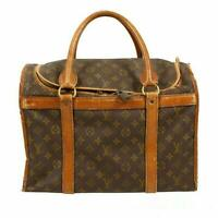 LOUIS VUITTON M42024 Sac Chien 40 Pet Cat Dog Carrier Carry Hand Bag Used Ex++