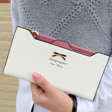 Women Ladies Fashion PU Leather Clutch Wallet Card Holder Long Purse Handbag Bag