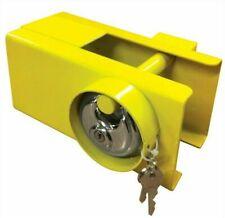 MSA (0721) Heavy Duty Tow Hitch Lock & Keys for Towing Caravan Trailer Lock - Yellow
