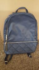 Faux leather navy backpack