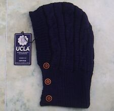 UCLA Mens Blue Hooded Ucscarf Watts Beanie Hat BNWT Snood New Hoodie Scarf Cap l